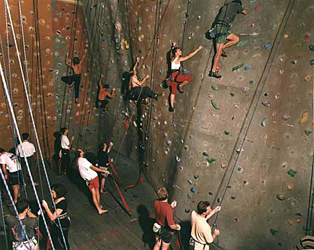 ANNE ZAHALKA   Rock Climbing Gym  1998 Type C print 115 x 145cm
