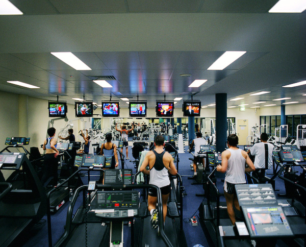ANNE ZAHALKA   Sydney University Gym  1999 Type C print