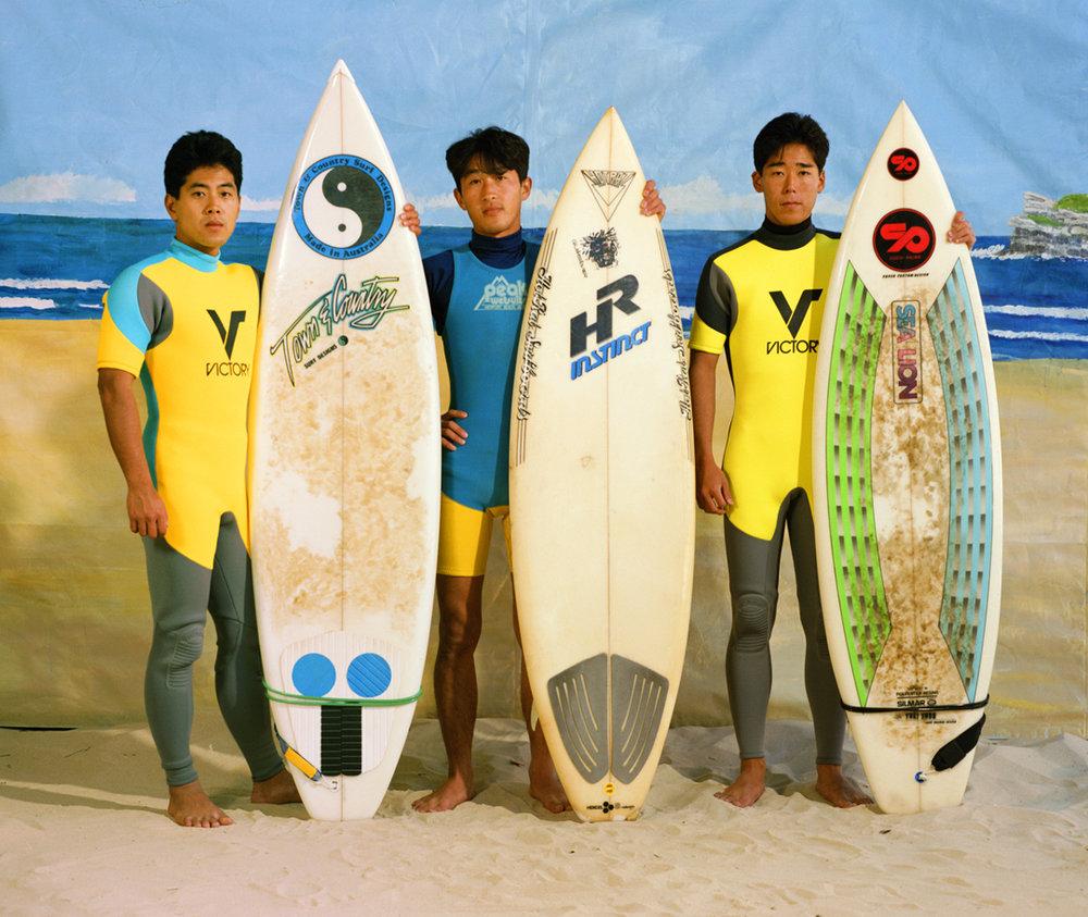 ANNE ZAHALKA   The Surfers  1989 Type C print 74 X 90cm