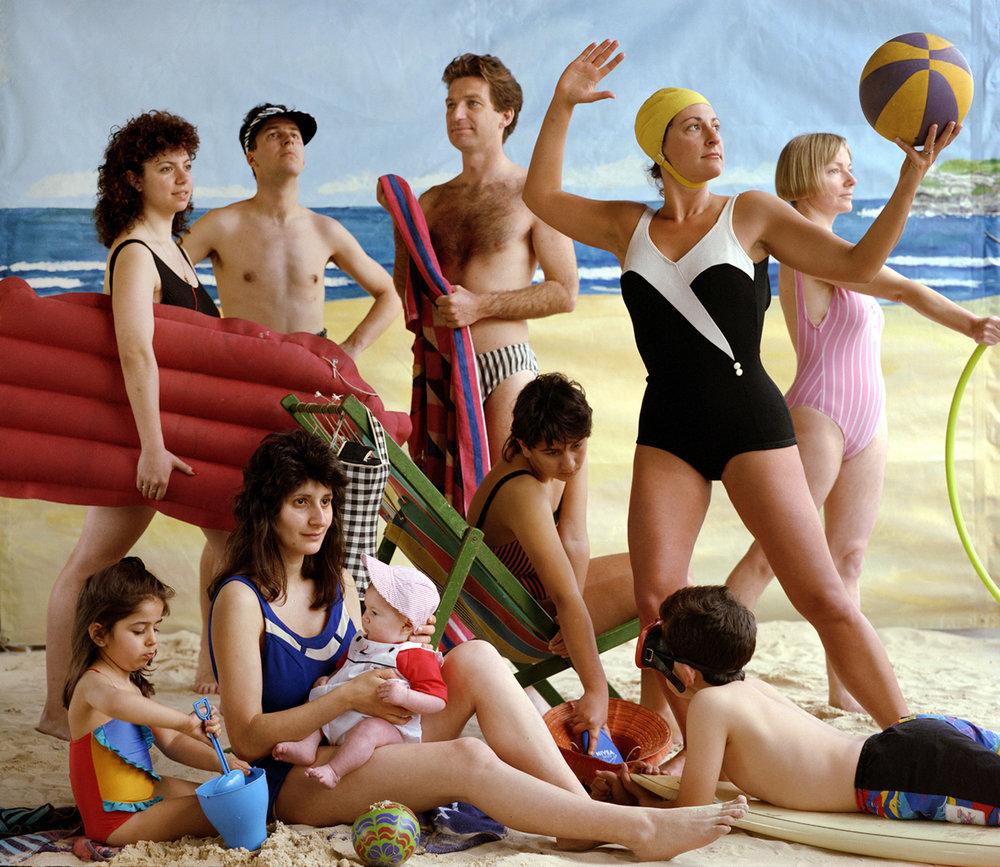 ANNE ZAHALKA   The Bathers  1989 Type C print 74 X 90cm