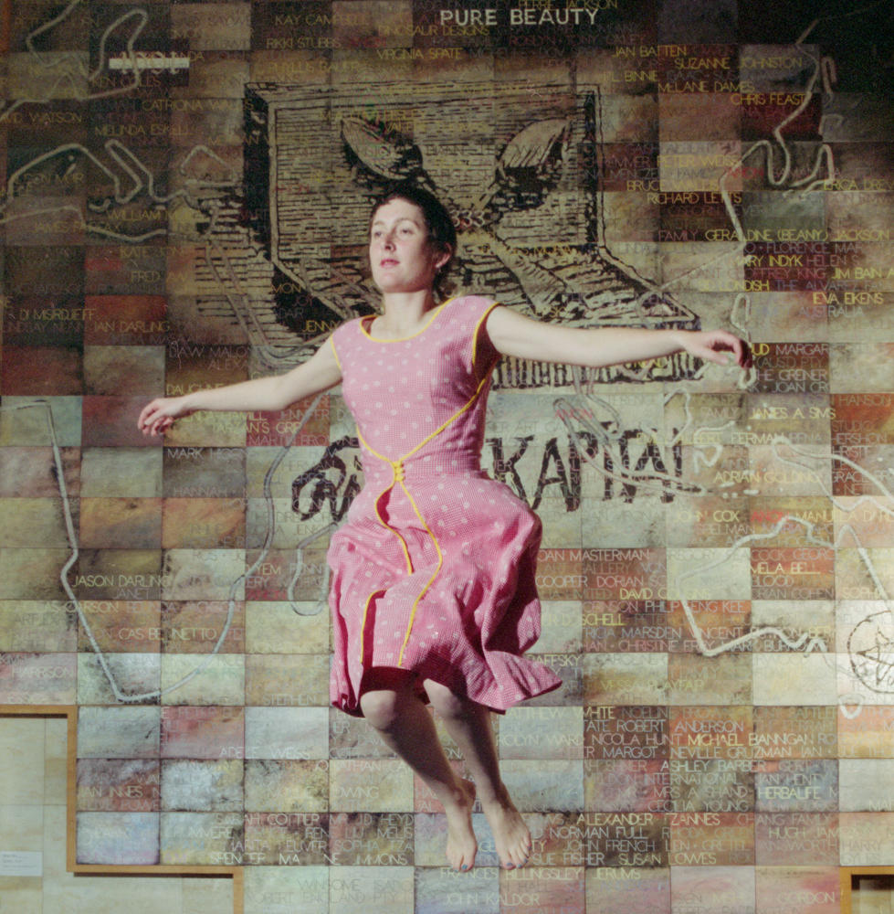 ANNE ZAHALKA   artist #17 (Rebecca Ann Hobbs)  2006 Duraflex print mounted onto perspex with engraving 85cm x 87cm