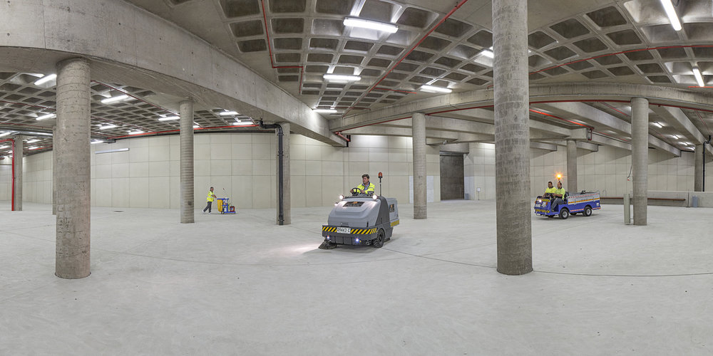 ANNE ZAHALKA   Cleaning Services Staff, Basement Public Carpark  2014 Inkjet print 80cm x 160cm