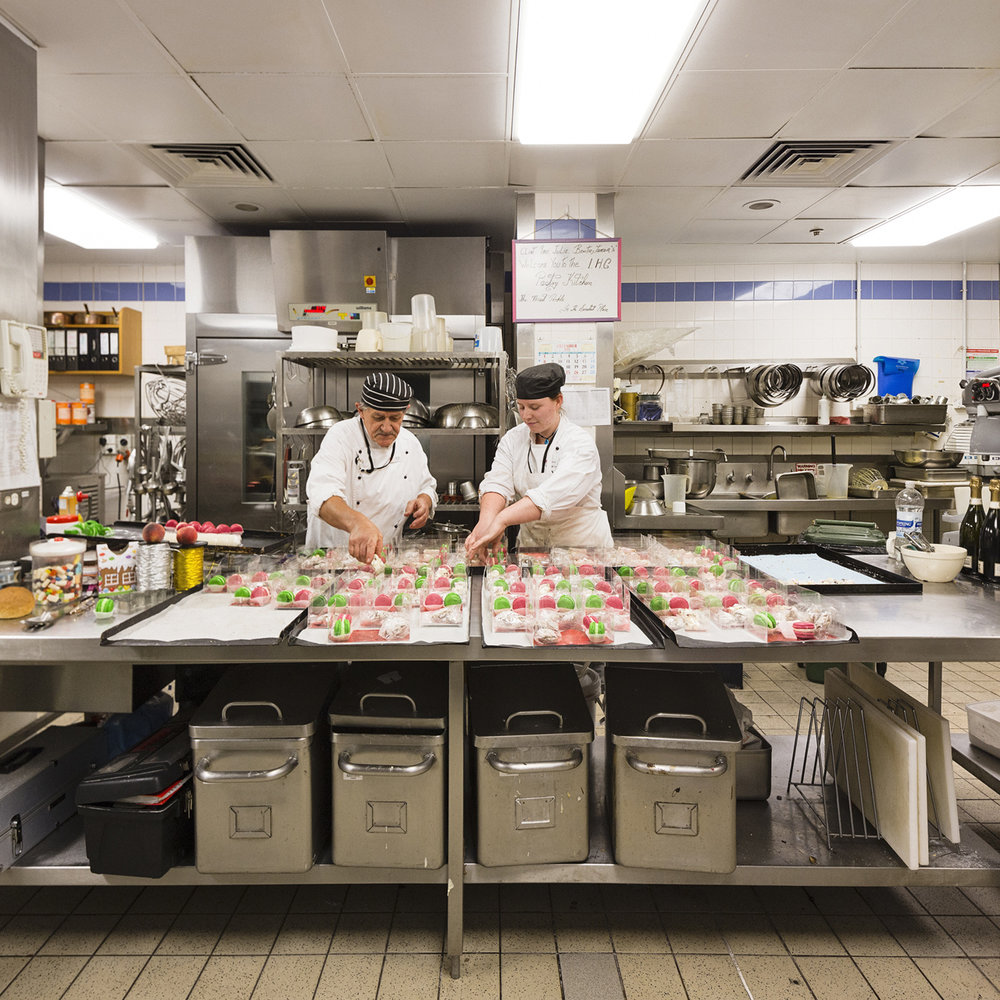 ANNE ZAHALKA   Head Pastry Chef and Assistant, Catering Services, Finishing Kitchen  2014 Inkjet print 80cm x 80cm