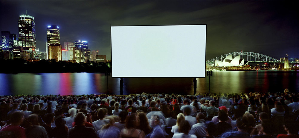 ANNE ZAHALKA   Open Air Cinema  1999 Type C print 115 x 242cm