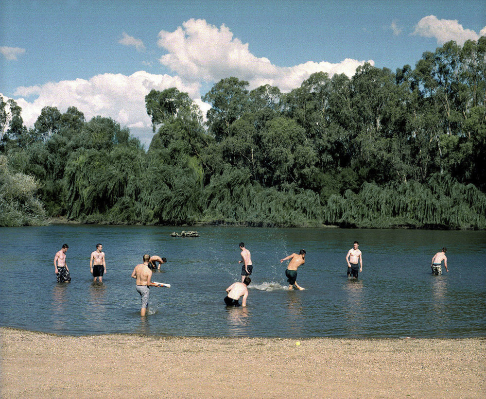 ANNE ZAHALKA   The Boys, Murrumbidgee River  2002 Type C print 115 x 145cm