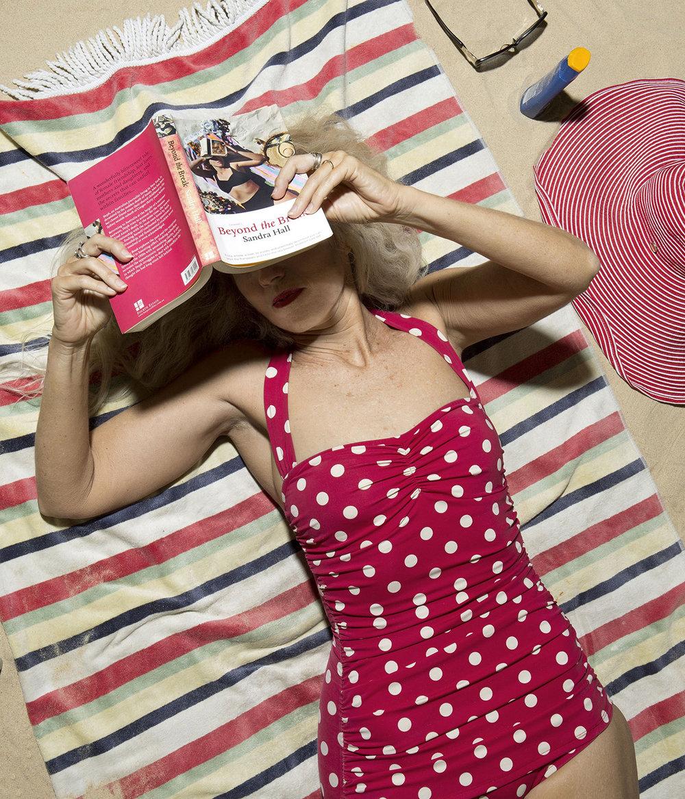 ANNE ZAHALKA   The Sunbather  2015 Type C print 87.5 x 75cm