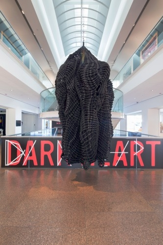 DANI MARTI   Armour 3, an heroic feat  2013–14 rope and leather 340 x 180 cm diameter