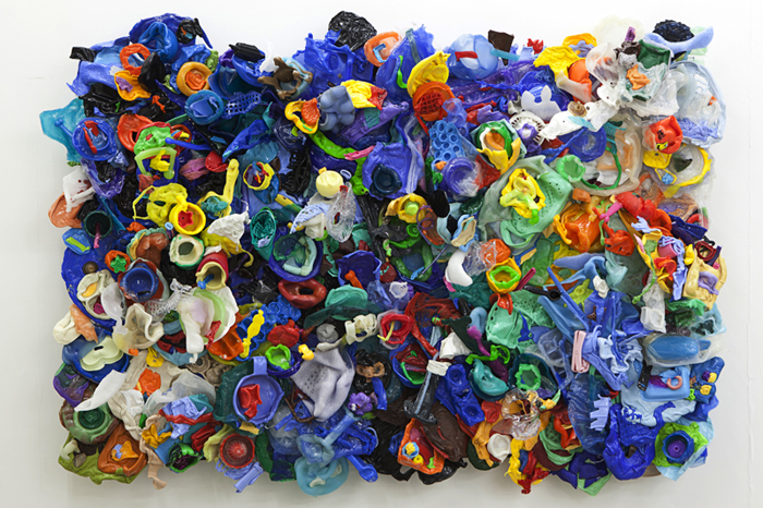 DANI MARTI   its all about peter take 2  2010 melted plastic 170 x 120 x 16 cm