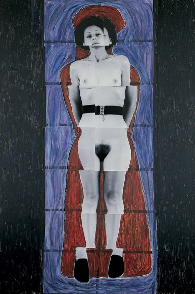 JULIE RRAP   Persona and Shadow Senex  1984 Cibachrome print 194 x 105 cm