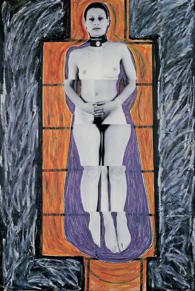 JULIE RRAP   Persona and Shadow Sister  1984 Cibachrome print 194 x 105 cm
