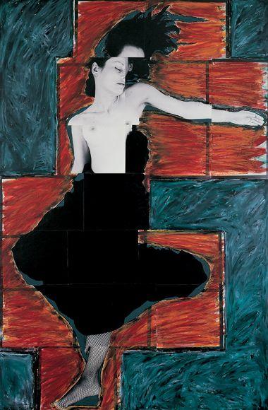JULIE RRAP   Persona and Shadow Conception  1984 Cibachrome print 194 x 105 cm