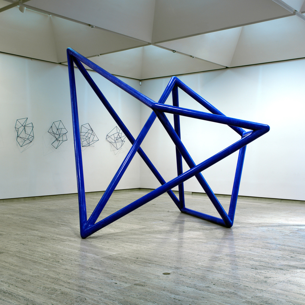 ROBERT OWEN   Vessel #2 (Blue)  2003 Fibreglass and M1 acrylic 400 x 457 x 420 cm approx