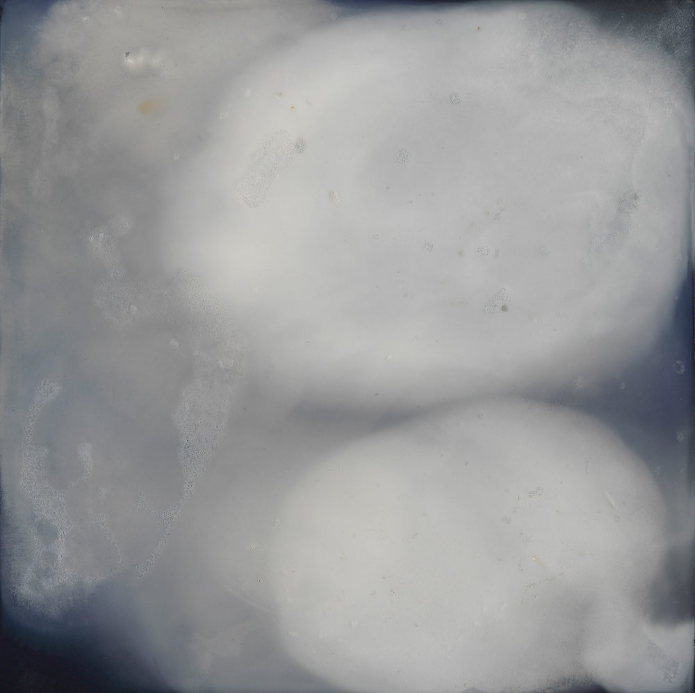CATHERINE WOO   Liquid Sky 3  2017 mixed media on composite 60 x 60 cm Photograph: Simon Cuthbert