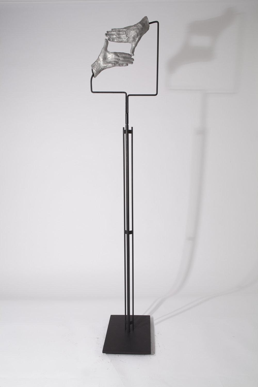 JULIE RRAP   Instrument: Framing  2015 Cast aluminium and steel 175 x 35 x 35 cm
