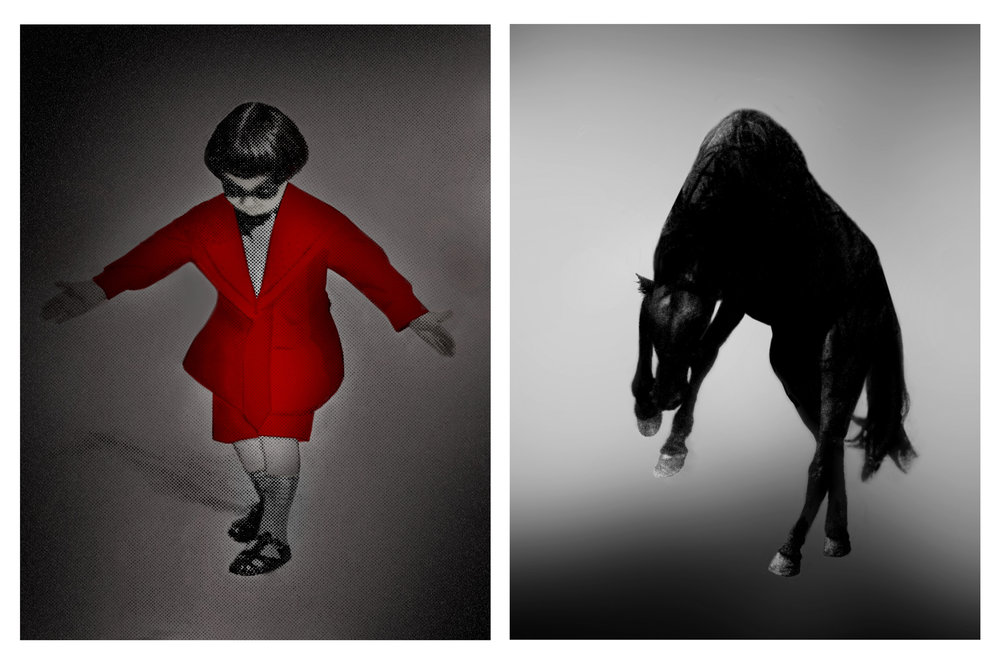 PAT BRASSINGTON   Measure for Measure #1  2017 Pigment Print Diptych, 85 x 65 cm each