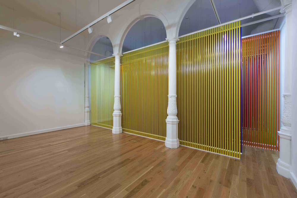 NIKE SAVVAS   Liberty and Anarchy  (Install view) 2012 Walk in site specific installation Polypropylene, perspex 380 x 900 x 2400 cm