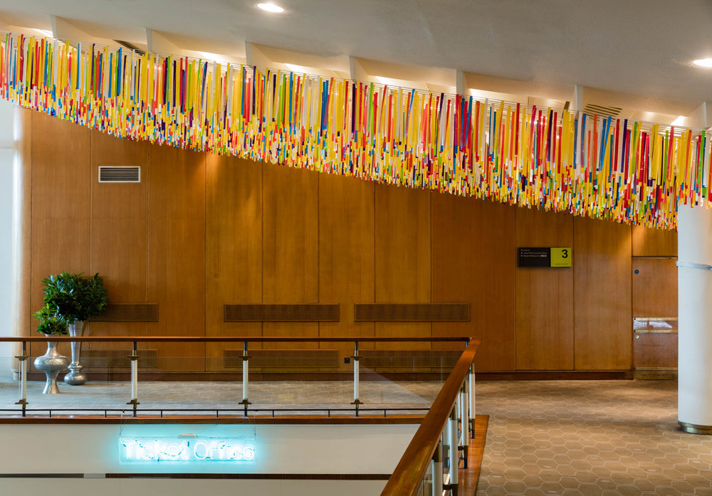 NIKE SAVVAS   Reverie  (Installation view) 2015 Wood, wool and plastic Dimensions variable Royal Festival Hall, London. Photo: Lewis Roland