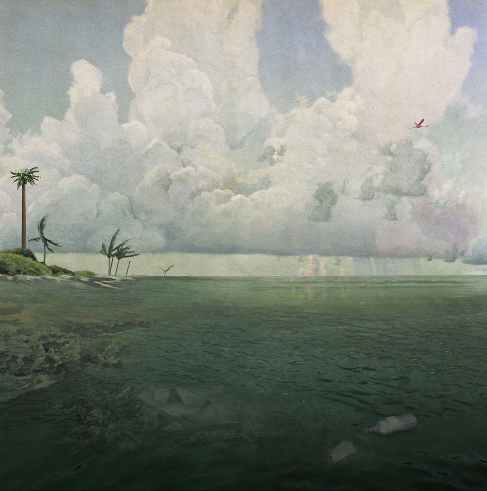 ANNE ZAHALKA    Rising Tide, 2016  2016  Archival pigment inks on rag paper 80 x 80 cm