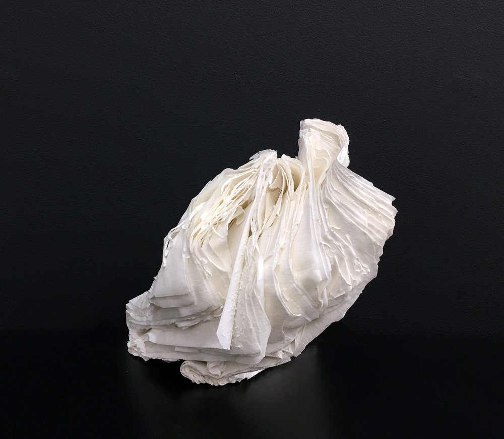 CYRUS TANG   Untitled 2  2016 Porcelain and paper 17 x 18 x 18 cm