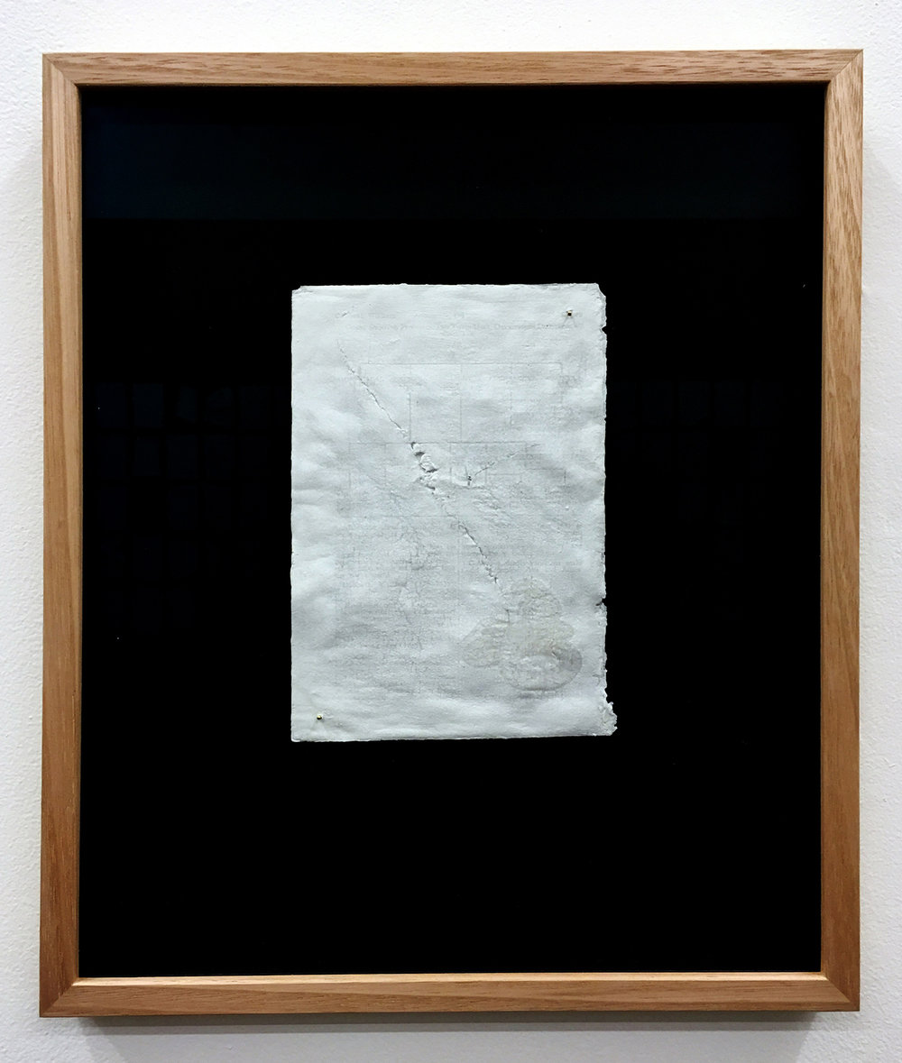 CYRUS TANG   Paper (framed) 2016 Porcelain and paper 35 x 28 cm