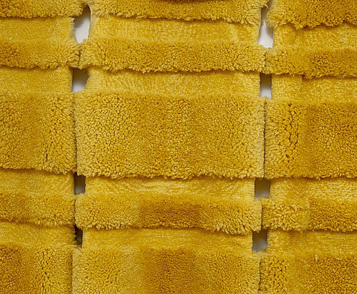MARIA FERNANDA CARDOSO  Medium Yellow - Sheep (detail) 2002 Dyed sheep skins Dimensions variable
