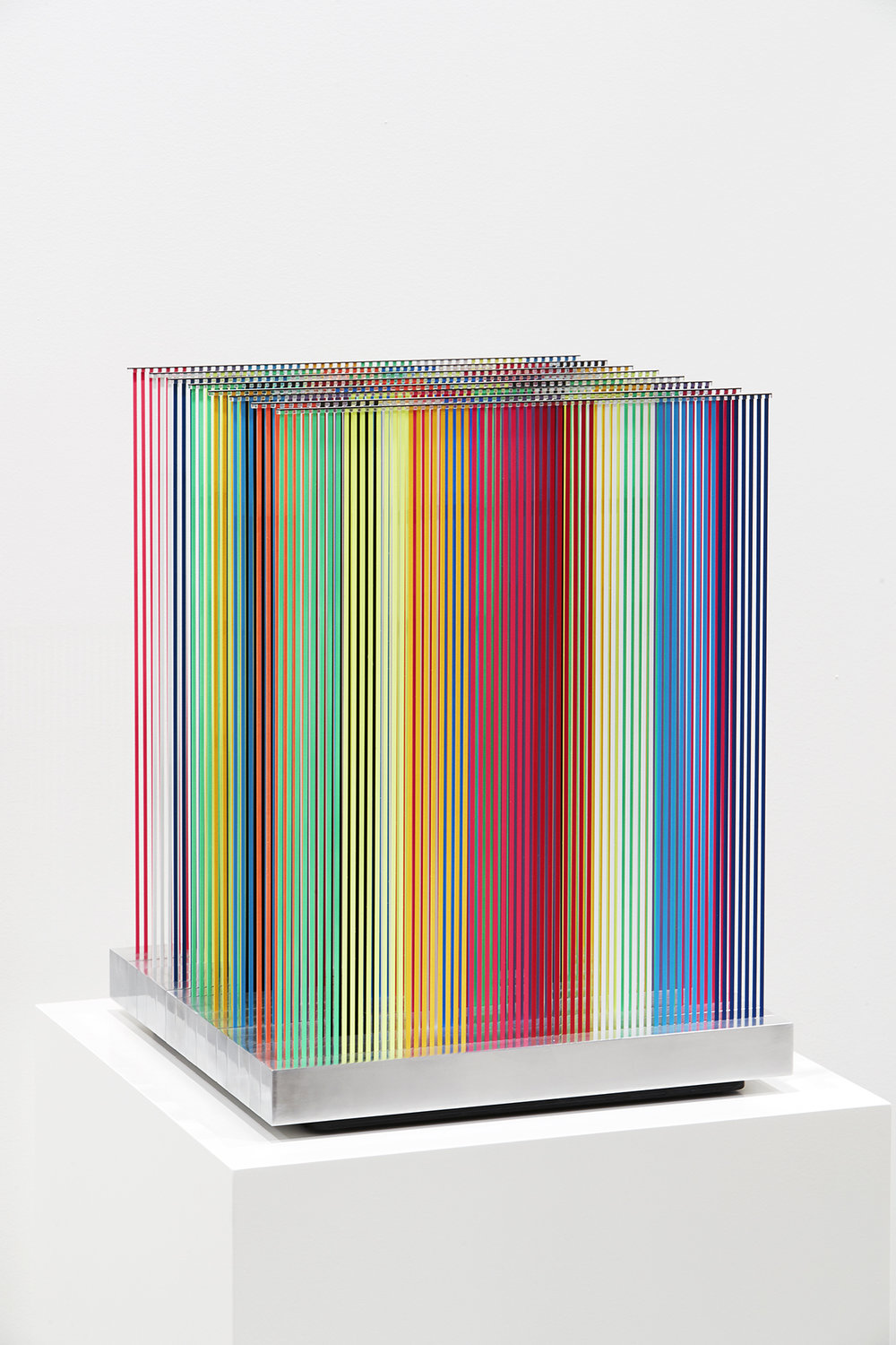 Nike Savvas,  Living on a Promise (A1),  carbon fibre, acrylic paint, aluminium, 52 x 40.5 x 40.5 cm. Photo: Zan Wimberley