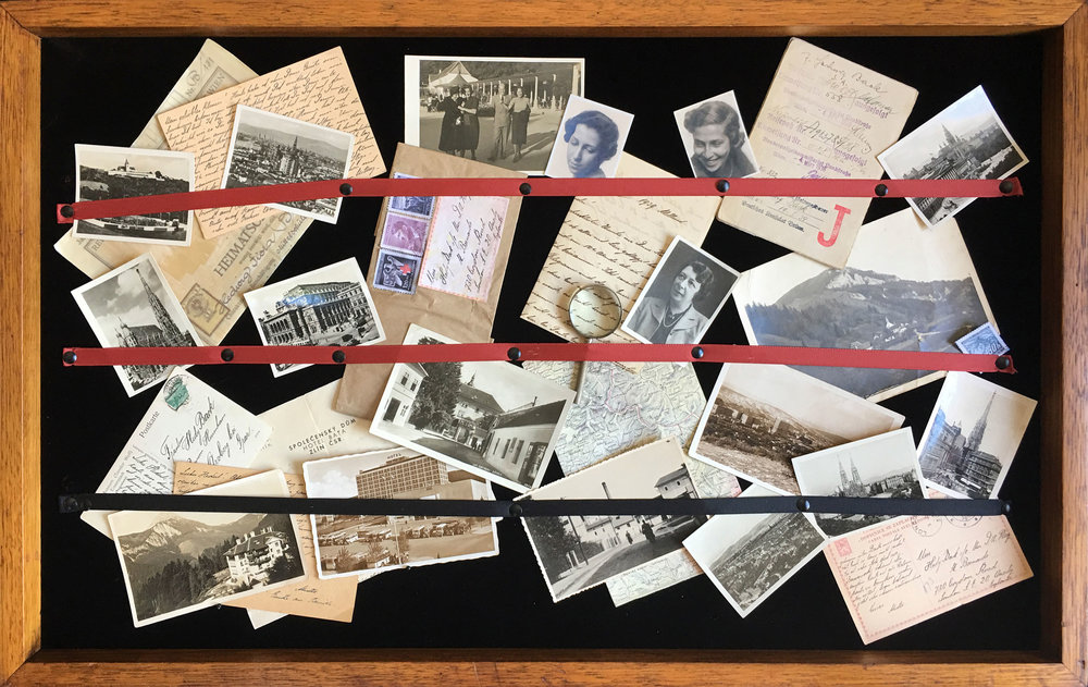 A collection of letters, photographs and ephemera including the last photo taken of the artist's mother, aunt and grandmother together.