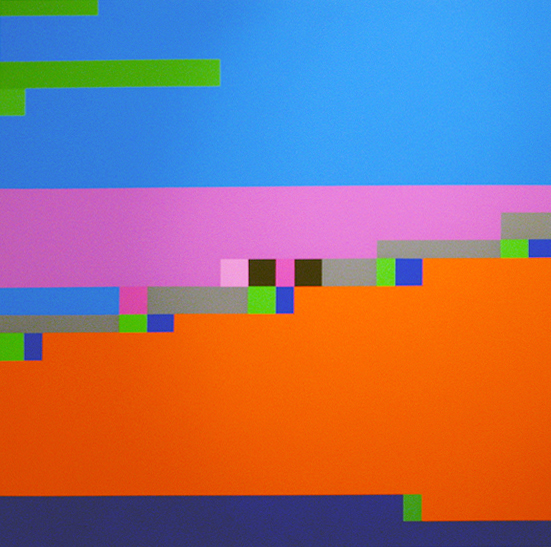 Robert Owen, Blue Note #7, 2006, synthetic polymer paint on linen, 122 x 122cm.