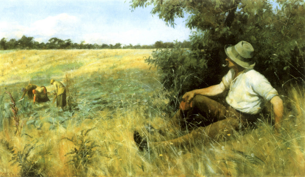 ANNE ZAHALKA   The Midday Rest and the Gleaners   1992 Cibachrome print (unique) 62 x 85cm