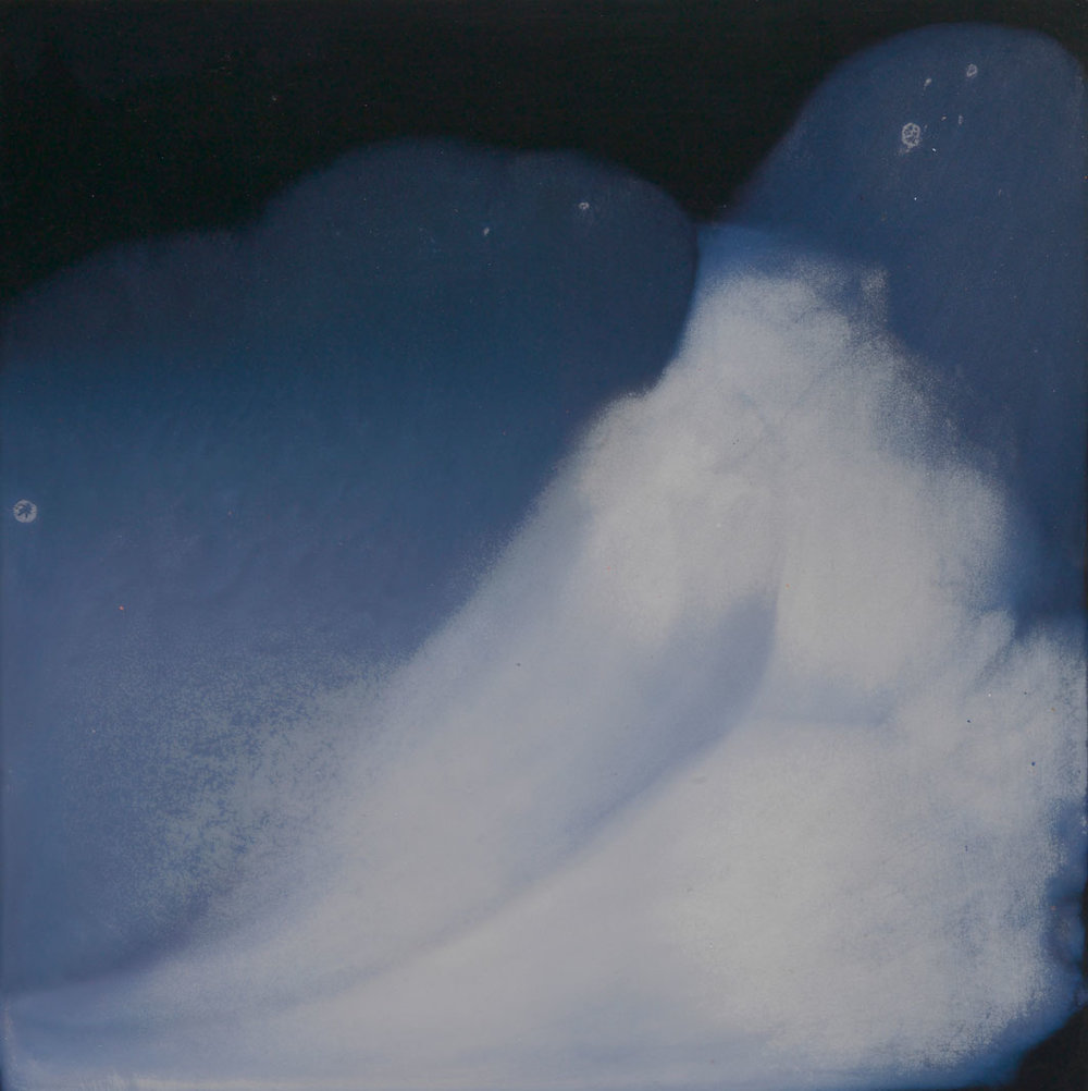 CATHERINE WOO   Liquid sky 6  2017 mixed media on composite 60 x 60 cm