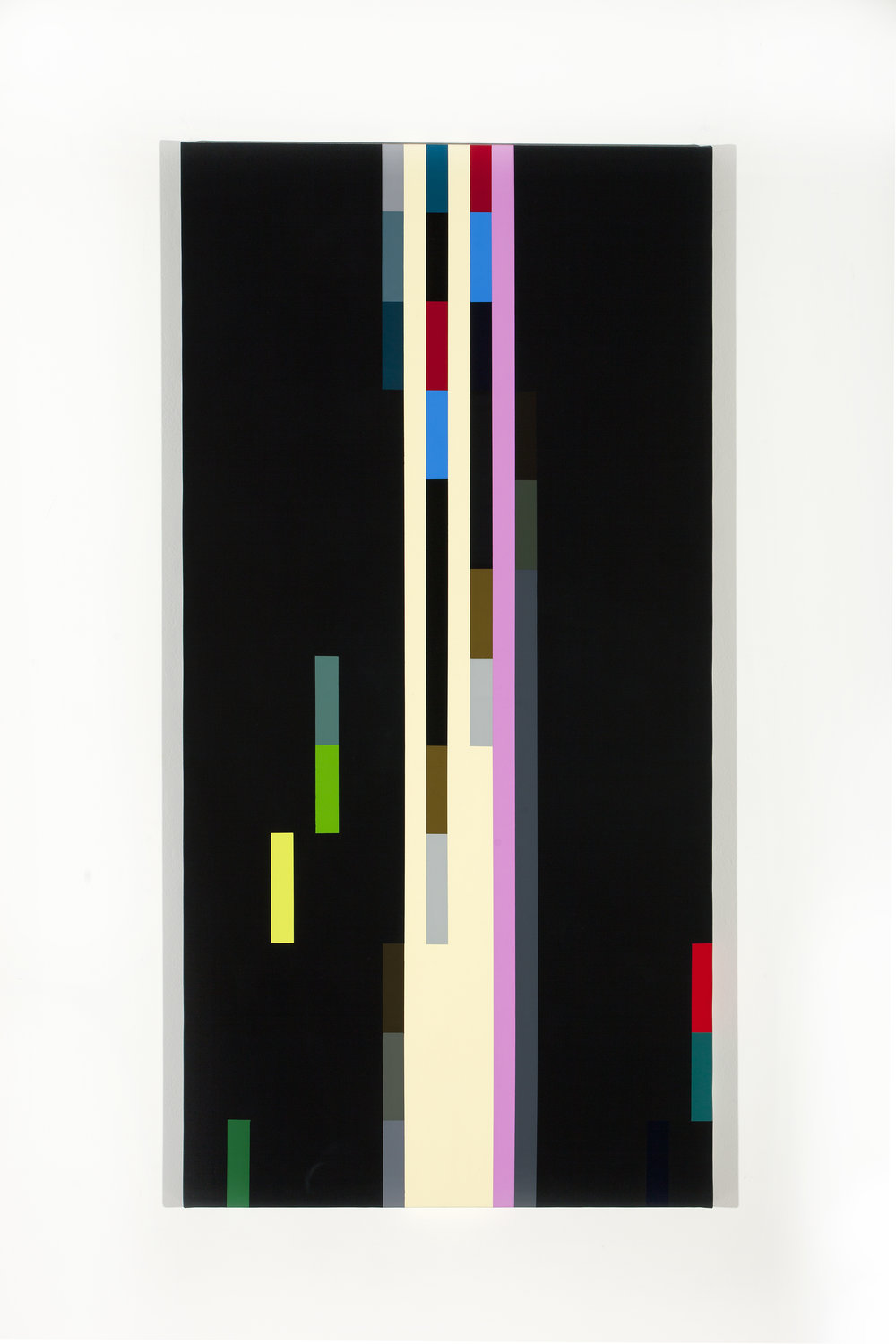 Robert Owen,  Soundings, (composition #04)  2012 synthetic polymer paint on canvas, 62.5 x 125 cm.
