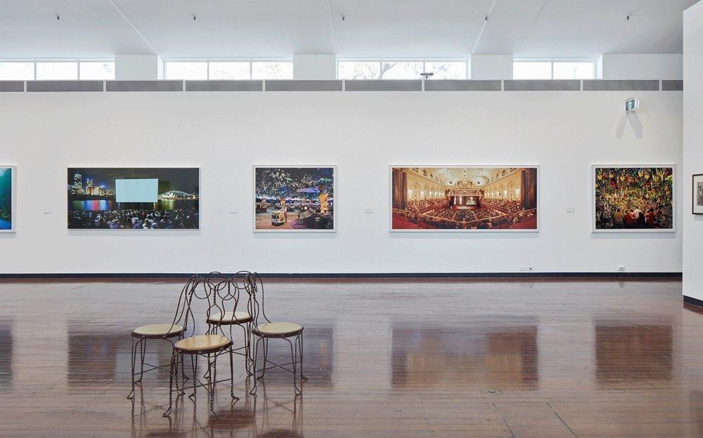 Anne Zahalka,  Leisureland  series, installation view, 2018.