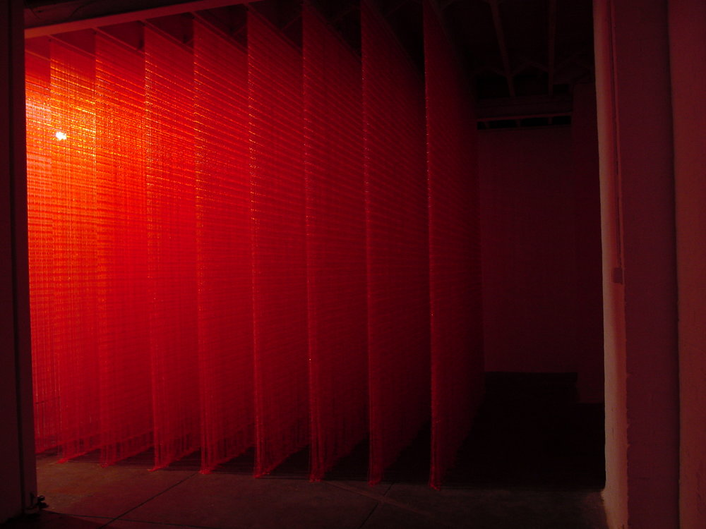 Image Caption: Dani Marti, 'Looking for Felix', 2000, plastic beads, curtains, 300 x 300 x 300cm.