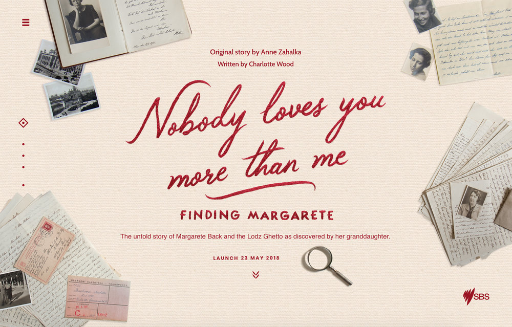 ANNE ZAHALKA,  Nobody Loves You More Than Me: Finding Margarete,  2018.