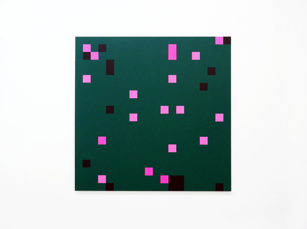 ROBERT OWEN   Moment to Moment  2016 - 2018 Synthetic polymer paint on linen 122 x 122 cm