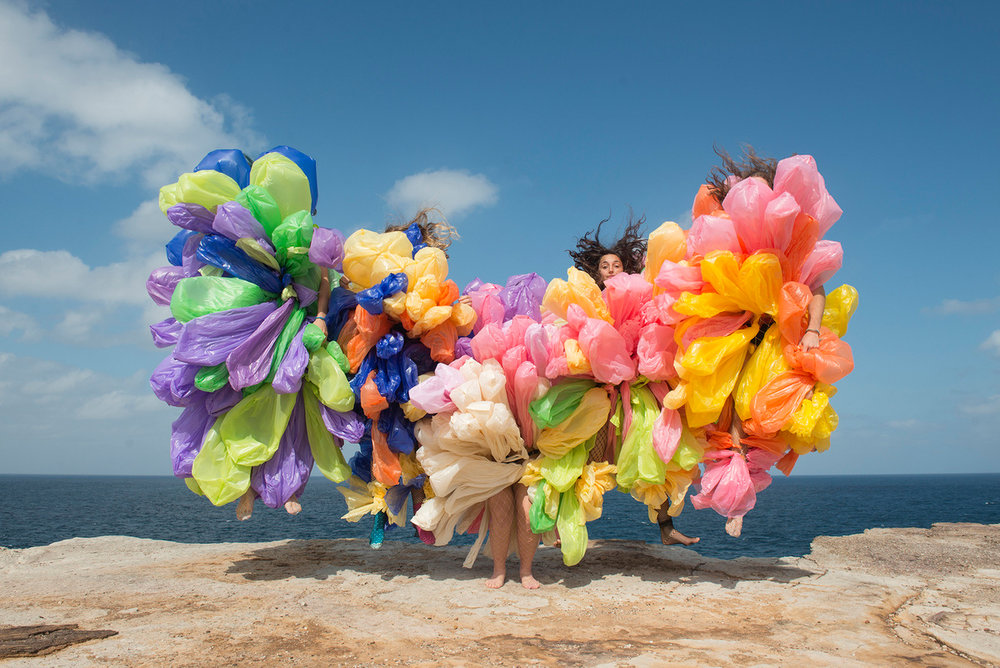 HONEY LONG & PRUE STENT   Bin Bag Float  2014 Archival pigment print 72 x 108 cm