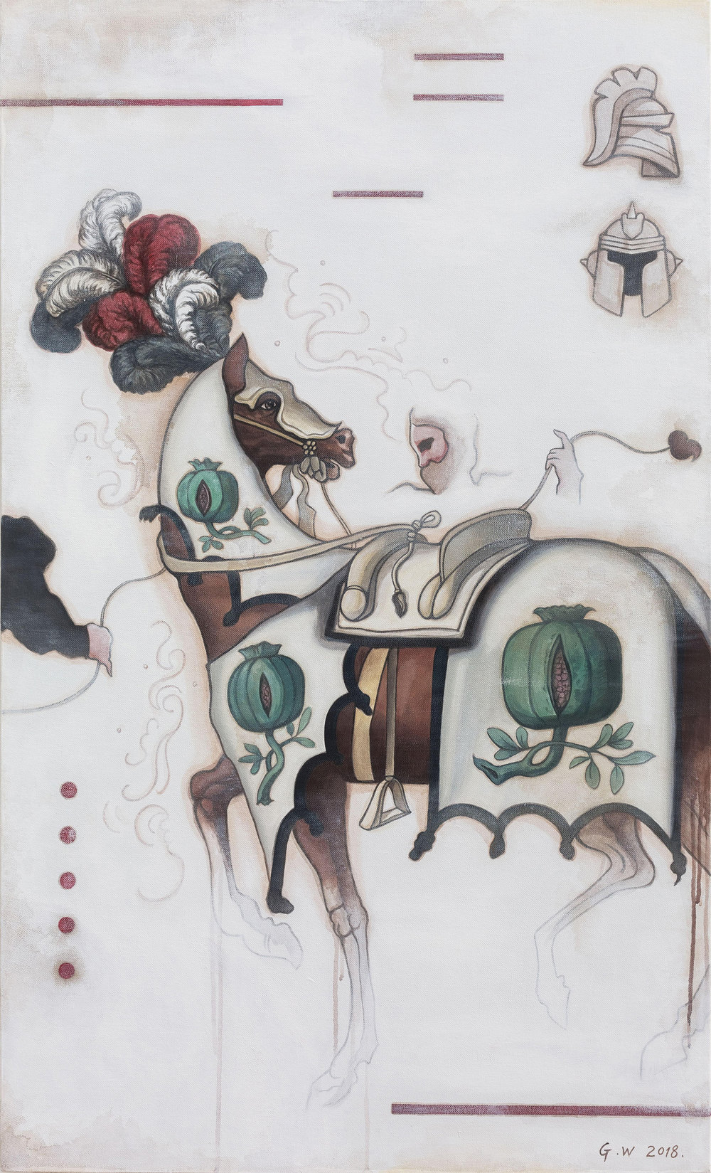 GUAN WEI   Chivalry No. 1  2018 Acrylic on linen 130 x 80 cm