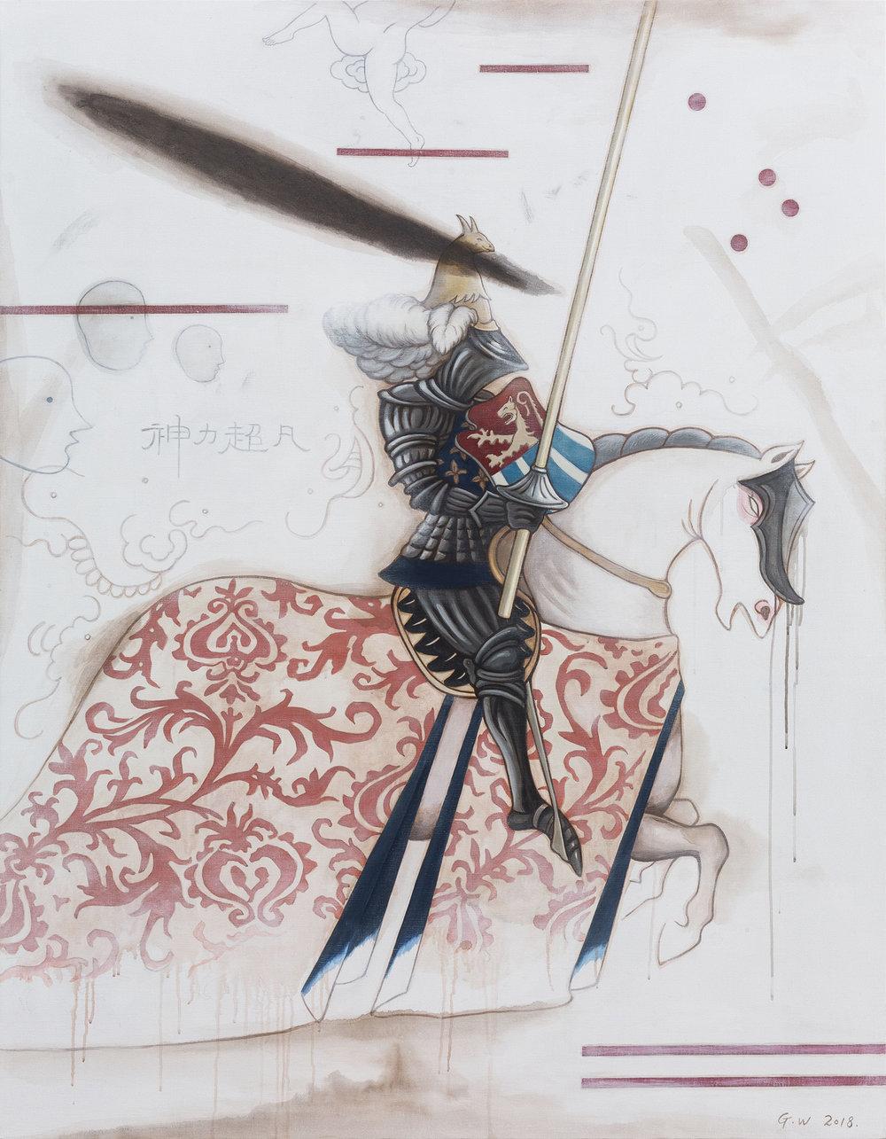 GUAN WEI   Chivalry No. 7  2018 Acrylic on linen 180 x 140 cm