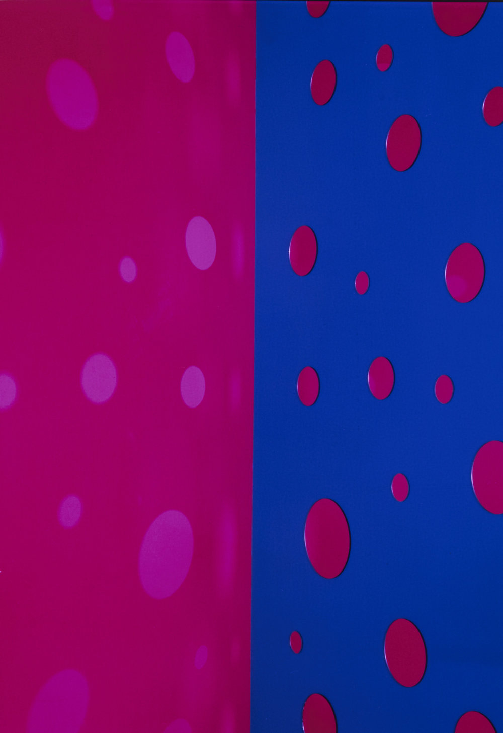 JACKY REDGATE   Light Throw (Mirrors) Fold - Pink and Violet  2019 Chromogenic photograph handprinted 185 x 127 cm