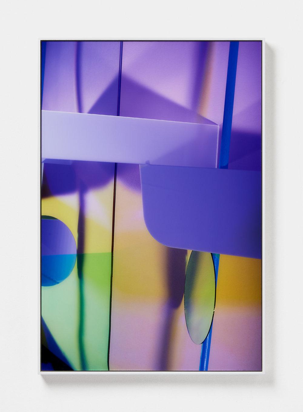 Lydia Wegner,  Purple Split , 2019, archival inkjet print, steel frame, 120 x 80 cm.