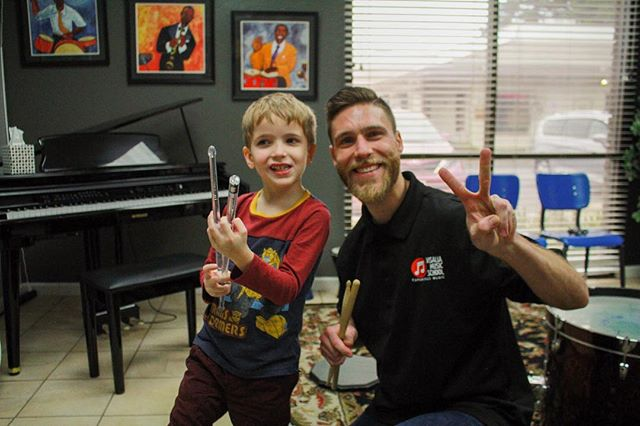 @chrisram in his energetic lesson with his student, Ian! #visaliamusicschool #music #drums #saxophone #violin #guitar #bassguitar #ukulele