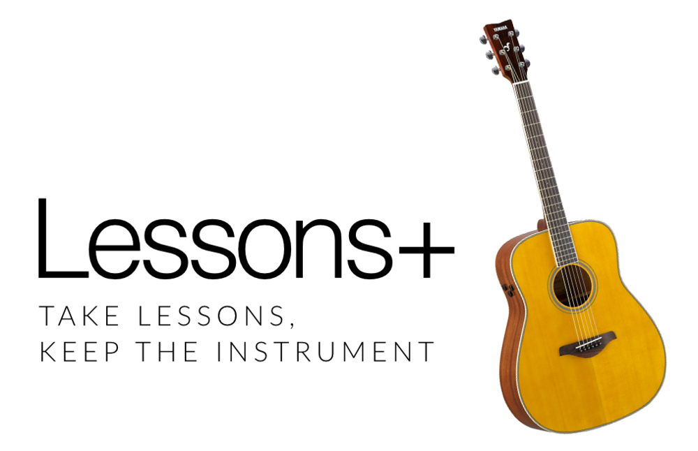Introducing Lessons+ - Starts at $129 per month!Don't have an instrument? Take one of ours!After 6 months, it's yours!*(6) month agreement required