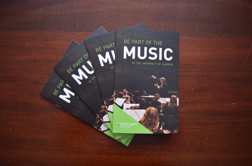 Alexa Guse  Visual Communication Design  Ualberta Music Brochures