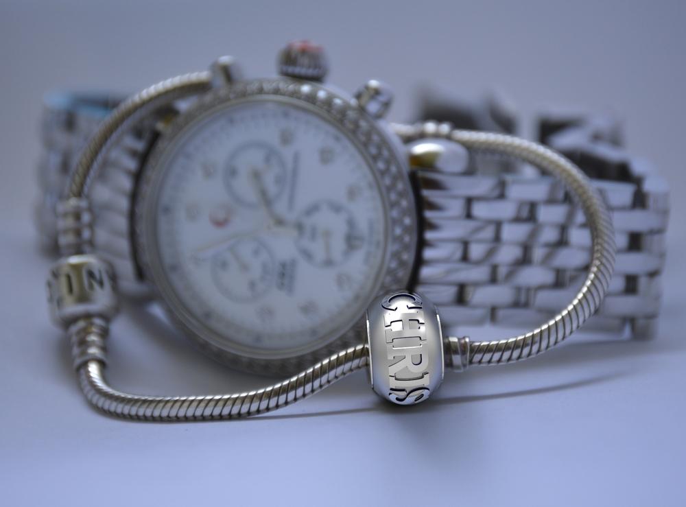 Silver custom Pandora charm bracelet