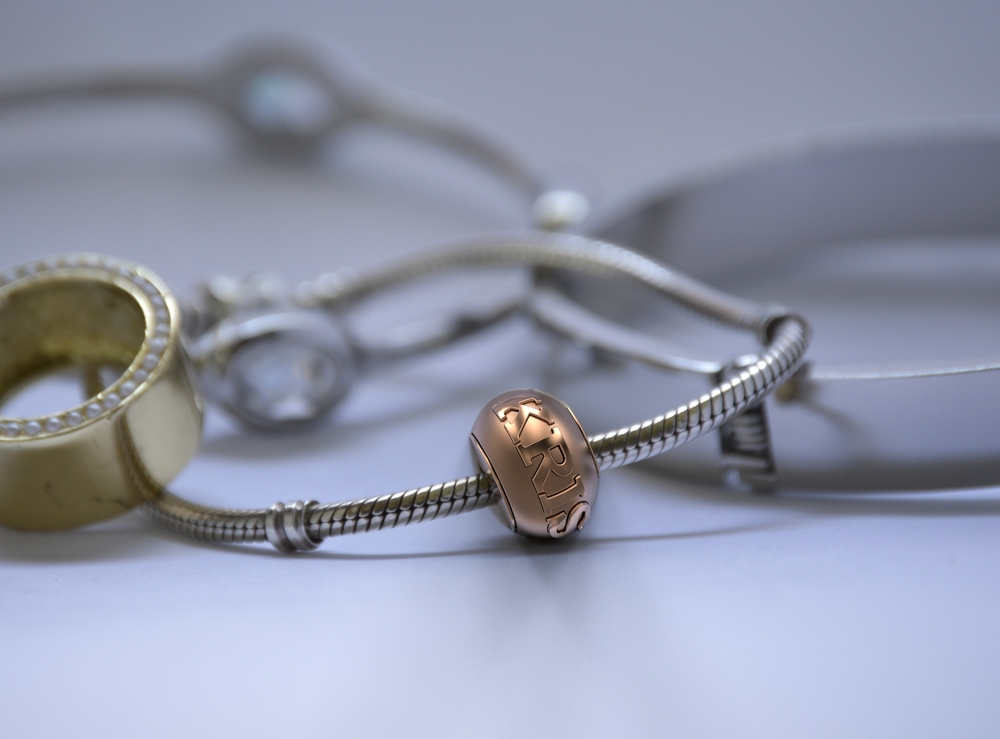 Rose Gold custom Pandora charm bracelet