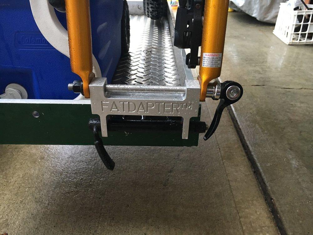 fat bike fork mount roof rack adapter