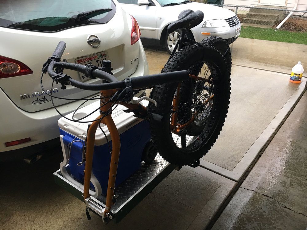 fat tire bike roof rack fork adapter