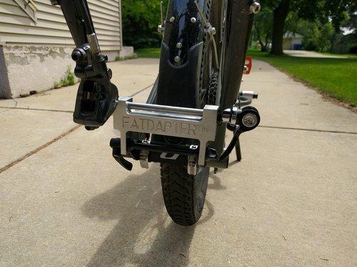 bike rack fork adapter