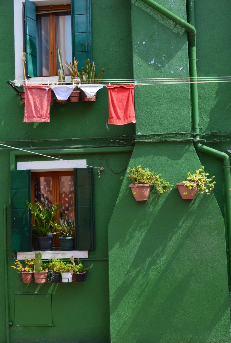 Laundry Hangs in Burano