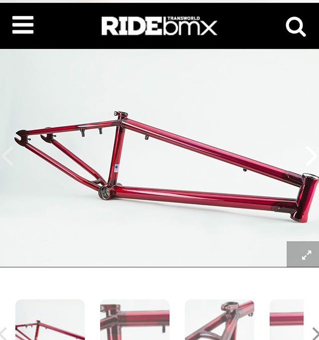 "Head over to @ridebmx to check out the ""know your roll"" on the deluxe BMX 22"" frames that are now available!  Link in our bio!"